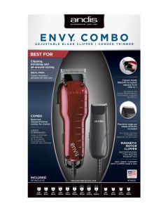 ANDIS CLIPPER ENVY CB W/CHARM US1/TC