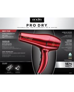 Andis Dryer Pro Dry Dc Red