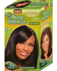 African Pride Olive Miracle No-Lye Relaxer 1 Application, Regular