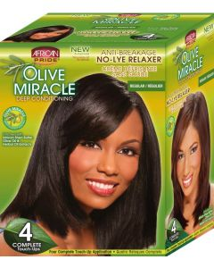 African Pride Olive Miracle No Lye 4 Touch Up [Regular]