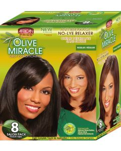 African Pride Olive Miracle No Lye 8 Touch Up [Regular]