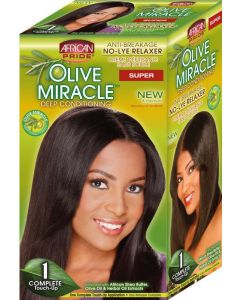African Pride Olive Miracle No-Lye Relaxer 1 Application, Super