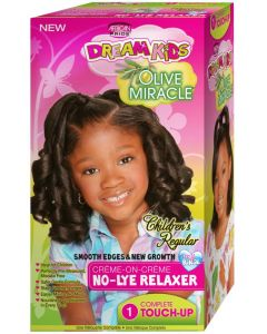 African Pride Dream Kids Olive Miracle No Lye 1 Touch Up [Regular]