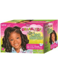 African Pride Dream Kids Olive Miracle No Lye 1 Application [Regular]
