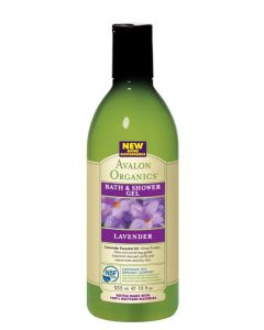 Avalon Organics Lavender Bath & Shower Gel, 12 oz