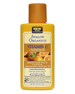 Avalon Organics Vitamin C Moisture Plus Lotion - SPF 15