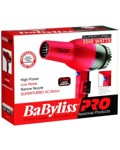 Babyliss Turbo Dryer Red