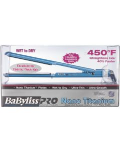 Babyliss Nano Titanium Ultra-Thin Wet-to-Dry Flat Iron 1-1/2""