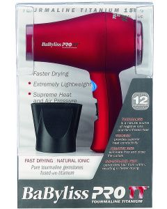 BABYLISS T/T COMP DRYER RED