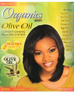 Africa's Best Organics Olive Oil No Lye Relaxer 2 Applications, Super