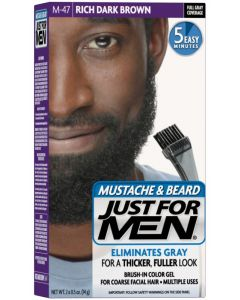 Just For Men Moustache & Beard 47, Rich Dark Brown