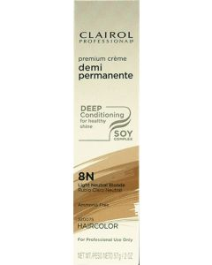 Clairol Soy Demi Permanente 8N, Light Neutral Blonde