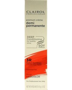 Clairol Soy Demi Permanente 3R, Medium Red Brown
