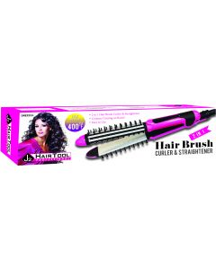 J2 H/T FLAT/CURL IRON W/BRUSH 1""