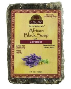 OKAY BLACK SOAP LAVENDER