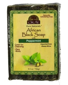 OKAY BLACK SOAP PEPPERMINT