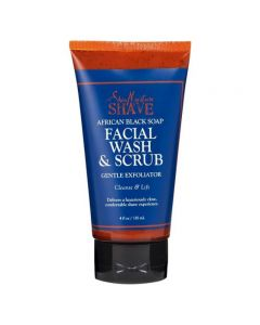 Shea Moisture Men African Black Soap & Shea Butter Facial Wash & Scrub