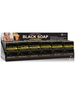 S/F SOAP BLACK 72 DISPLAY SET