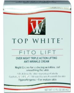 TOP WHITE ANTIWRINKLE NITE CR