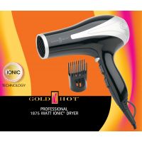 Gold N Hot Dryer Ionic Blk/slv
