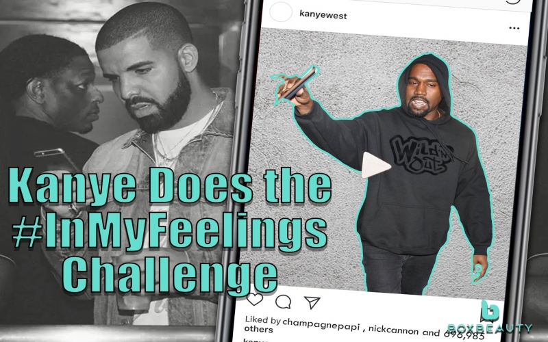 Kanye Does the In My Feelings Challenge