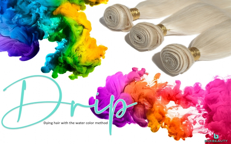 Drip: Dying your hair with the water color method